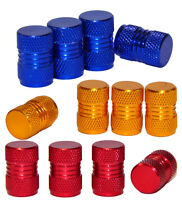 4 x Metal Alloy Tyre Air Valve Dust Caps Covers - Car, Van,ATV, Bike, Motorcycle