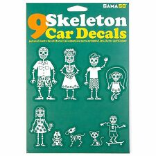 GAMAGO Skeleton Car Decals Family Stickers for Vehicles Day of the Dead Style
