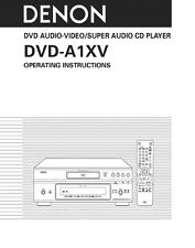 Denon DVD-A1XV DVD Player Owners Instruction Manual
