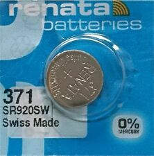 NEW 371 RENATA SR920SW D370 Watch Battery Free Shipping Authorized Seller