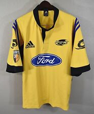 Wellington Hurricanes Rugby Jersey XL Adidas Yellow New Zealand Ford NZ