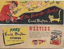 WEETIES AUSTRALIA CEREAL GIVEAWAY PROMO MINI ENID BLYTON ENCHANTED SHOELACE VG