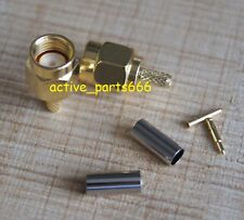 10x Connector RP.SMA Male jack crimp RG174 RG316 LMR100 cable straight