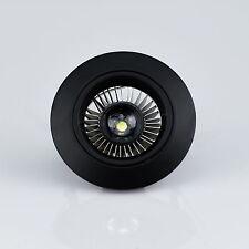 Einbaustrahler Rund schwarz starr Einbauspot  Strahler Bad Außen Leuchte LED mög
