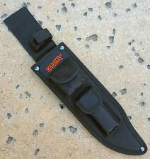 """MARBLES  BLACK NYLON JUNGLE BOWIE SHEATH FOR 10"""" BLADE KNIFE,  MR310410S"""