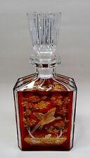 Exklusive prunkvolle Kristallglas geschliffene böhmische Glas Karaffe Jagdmotiv