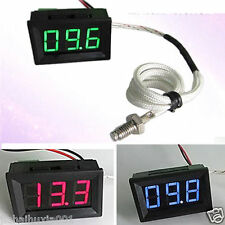 0℃+999℃ Thermometer digital LED Temperatur Anzeige Temperaturanzeige 8V 12V CAR