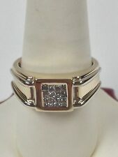 Men's Ring Natural Diamond Solid 14kt Multi-Tone Gold