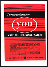 1950s Swiss Federation Watch Manufacturers Watchmakers of Switzerland Print AD 4