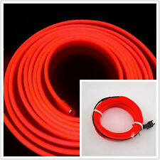 2M Red Cold light lamp Car Atmosphere Ambient Lights Unique Decor 12V EL Wire B