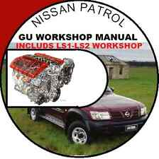 NISSAN PATROL GU + PLUS HOLDEN LS1 LS2 V8 INFO WORKSHOP REPAIR SERVICE MANUAL CD