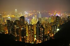 HONG KONG SKYLINE CITYSCAPE POSTER STYLE C 24x36 HI RES