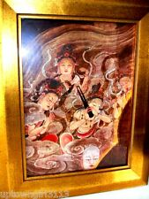 RAIGO of AMIDA & HIS HOST colour on silk GALLERY Japan HEAVENLY BEINGS BUDDHA