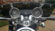 BOOST CHROME BLUETOOTH MOTORCYCLE STEREO SPEAKER SYSTEM HARLEY HONDA KAWASAKI
