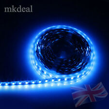 5M Adhesive Tape Strip Light 300LED IP20 Blue Car/Shop/Window/Counter Kitchen UK