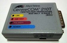 CentreCOM AT-210T AUI RJ-45 Transceiver Cisco 2509 2511 2500 210T 1-YR Warranty!