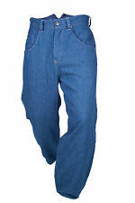 LEVIS RED RANGE LINED FISHTAIL BACK & CINCH DROPPED CROTCH BLUE JEANS W30 BNWoT