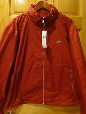 Lacoste Men's Red Water-Repellent Jacket Size XL Designed In France.
