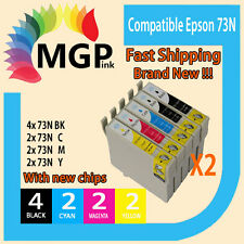 10 Compatible INK for Epson 73N T0731-4 TX110 CX5500 NX220 TX610F Printer