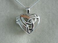 Clogau Sterling Silver & 9ct Rose Welsh Gold Eternal Love Locket