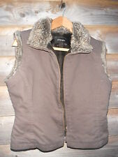 Principles Faux Fur Lined Brown Gilet/Wwaistcoat Size 12