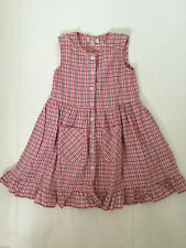 ROOM SEVEN PINK CHECKED DESIGN BUTTON FRONT DRESS- 4 YEARS 104CM