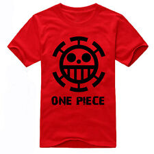Top Anime One Piece Trafalgar Law Cotton T-shirt Short Sleeve Tee Casual Costume
