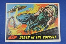 1962 Topps Bubbles - Mars Attacks - #12 Death In The Cockpit - VG/Ex