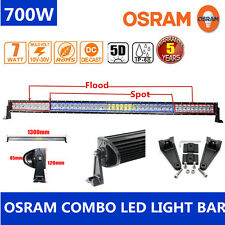 Xmas! 5D 52inch 700W LED Spot Flood Combo Work Light Bar Offroad Driving Lamps