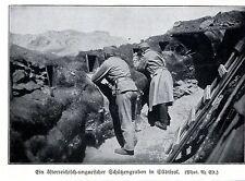 1915 Südtirol * Österreichischer Schützengraben *  WW1