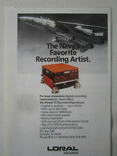 2/1990 PUB LORAL MODEL 15 RECORDER REPRODUCER US NAVY F-14 TOMCAT ORIGINAL AD