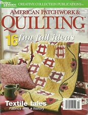 Better Homes and Gardens American Patchwork and Quilting Magazine October 2002