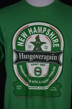 Mens Large Green New Hampshire Hungover Again Party Beer Drinking RacingT-Shirt