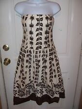 GLAM TROPICAL PRINT STRAPLESS  Dress D1812 Sz S WOMEN'S Made In USA New