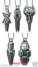 BANDAI Mobile Suit Gundam Shield Die Cast Keychain Gashapon (Set of 5) Grey ver