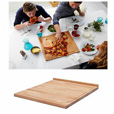 NEW IKEA Large Wooden Wood Timber Chopping Board 46x53cm Cutting w/ Groove Edge