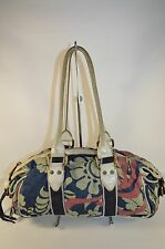 REDUCED Marc Jacobs Small Floral Denim And Leather Trim Small Satchel Purse