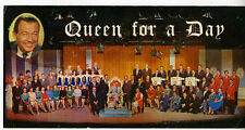1963 Oversized Advertising Postcard for T.V. Program Queen for a Day