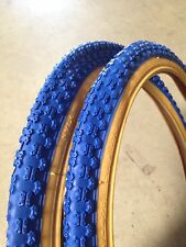 BMX 20x1.75 Blue Gumwall Bicycle Tires & Tubes•COMP3