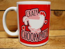 300mm COFFEE MUG - FOR CHICKEN LOVERS! CRAZY CHOOK LADY - RED