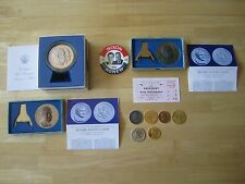 Lot of U.S. Presidential Memorabilia:  Medals, 1953 Inauguration ticket, Button