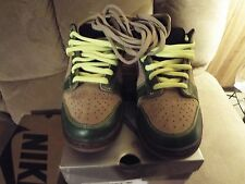 Nike Dunk Low Pro SB Jedi Brown Green Khaki Volt 304292-222 US 10.5 Supreme
