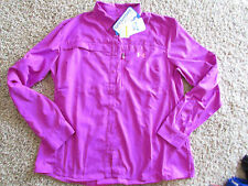 NEW UNDER ARMOUR UNDERARMOUR LS SHIRT JACKET WOMENS XL UV STAIN RESIST FREE SHIP