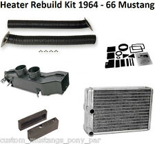 Mustang Heater Box Core Plenum Hose Duct & Seal Kit 1964 1965 1966 64 65 66 GT