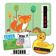 Baby Child Fox Nursery Room, Duck Bath and Forehead Thermometers Starter Pack
