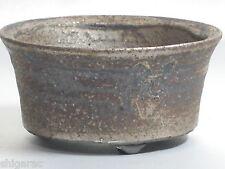 "Bonsai Pot Shigaraki Stoneware ""Black Yohen Small"" d12cm Planter Japanese"