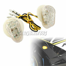 Clear Led Flush Mount Turn Signals Indicators For Yamaha YZF R1 R6 R6S 2002-2013