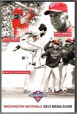 2013 Washington Nationals MLB Baseball Media GUIDE