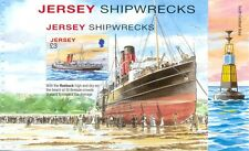 Jersey-Shipwrecked vessels sheet/pane ex booklet-mnhSteamships