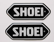 SHOEI stickers - decals - 2 x Black High Gloss Gel Finish - 43mm - Motorcycling